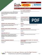 Amq Participant List 2015