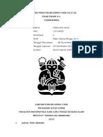 Laporan Praktikum Kimia Fisik A1 Termokimia