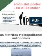 Organización Política en El Ecuador....