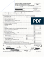 accounting project federal return form 1120s 2015