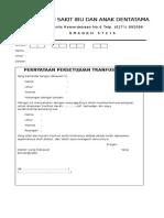 persetujuan trafusi RS Dentatama