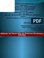 Método de Desarrollo de Sistemas Dinámicos (Mdsd)