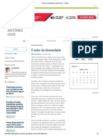 O valor da diversidade _ Antônio Gois - O Globo