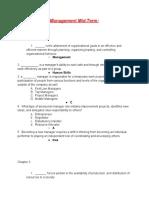 managementmid-term