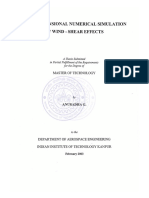 2D Numerical Simulation of Wind Shear Effects -