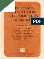 Veinte Años de Evolucion de Los Derechos Humanos - Varios Autores