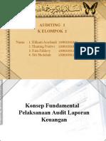 konsep fundamental pelaksanaan audit laporan keuangan