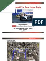 Baltimore Grand Prix Noise Study