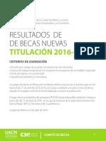 Resultados Titulación 2016-I