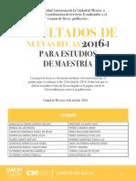Resultados Posgrado 2016-I