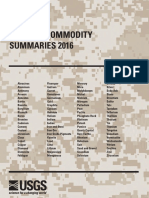 +09 US Geological Survey - Mineral commodity summaries 2016