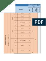 Calendarización - Programación Actividades 2015 (1)