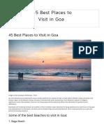 45 Best Places to Visit in Goa _ Thrillophilia