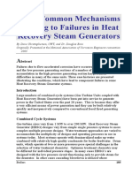 Some Common Mechanisms Leading to Failures in Steam Boilers