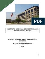 Plan de Contingencia Para Emergencias y Desastres Consolidado