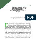 Opinión Pública Libre y Medios de Comunicación Social en La Argumentación Jurídica Del Tribunal Constitucional Español (Modesto Saavedra)