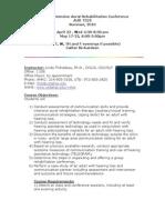 UT Dallas Syllabus for aud7325.05a.10u taught by Linda Thibodeau (thib)