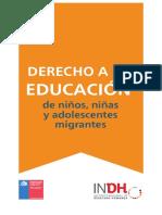 Cartilla sobre  el derecho a la Educación del  Migrante en Chile