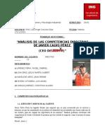 Estructura Del Informe Análisis de Competencias Directivas de Javier Calvo Pérez