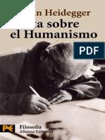 Heidegger Cartas Sobre Humanismo