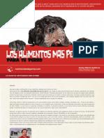 Los Alimentos Mas Peligrosos  para tu perro
