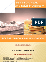 SCI 256 TUTOR Real Education - Sci256tutor.com
