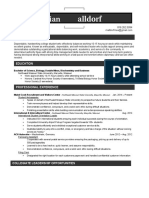 Max Malldorf Resume
