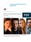 Los Mejores Libros de 2015 Según Los Escritores Argentinos