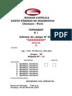 Informe 001 y 002