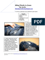 Adding Elastic to Jeans Tutorial