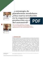 Artículo sobre la producción en el sector automovilístico
