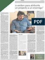 Entrevista a Dardo Scavino en el diario La Nación, 2012