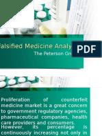 Falsified Medicine Analysis