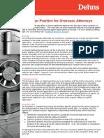 European Practice for Overseas Attorneys