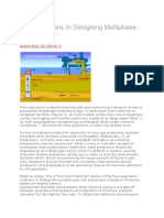 Considerations in Designing Multiphase Flow Lines