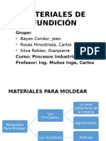 Materiales de Fundición