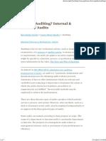 Internal & External Audits