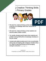 Teaching Creativity Skills in Primaryuagc2013