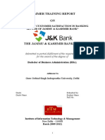 analysis of customer satisfaction in banking sector of jammu kashmir bank