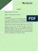 7. Project Management Framework