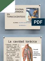 Cuidados de Enfermería en Toracocentesis