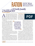 Do Gaps in E-Verify Justify a National ID?, Cato Immigration Reform Bulletin No. 1