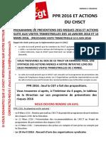 PPR 2016 et actions CHSCT