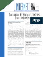 Net Neutrality Paper