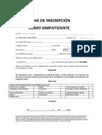 Ficha de Inscripcion Simpatizantes