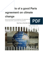 Elements of a Good Paris Agreement on Climate Change