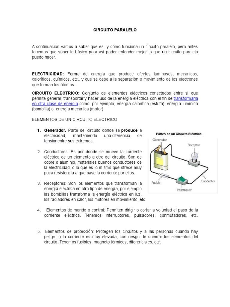 Circuito Paralelo : Circuito paralelo