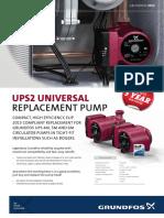 HOM Boiler Pump UPS2 Datasheet 1214