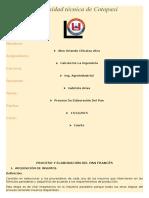 Proceso y Elaboración Del Pan Francés