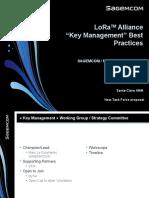 LoRa Alliance Key Management Task Force